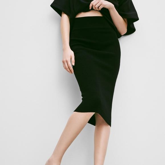 NWT Wilfred Free Black Josephine Skirt